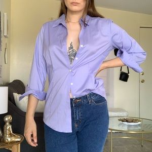 Thrifted vintage lavender button down